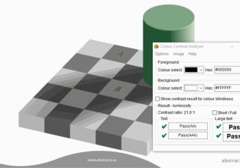 La importancia en la selección de colores mostrada con una ilusión óptica
