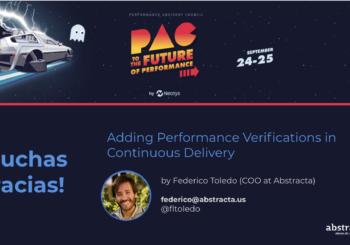 Charla en Neotys PAC: Adding performance verifications in Continuous Delivery